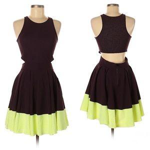 Lululemon Away Dress cutout perforated 8 bk cherry